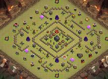 war 1 TH 9 Clash of Clans Base Layout