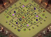 Hhh TH 9 Clash of Clans Base Layout