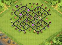 Awlad HOSEN at TH 8 Clash of Clans Base Layout