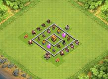 I made this :) TH 4 Clash of Clans Base Layout