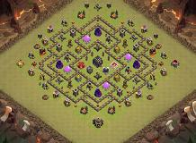 base TH 9 Clash of Clans Base Layout