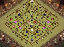 anti TH 11 Clash of Clans Base Layout