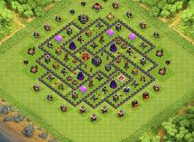 ff TH 9 Clash of Clans Base Layout