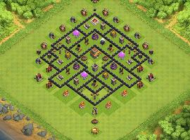 KooKooKellz TH 8 Clash of Clans Base Layout