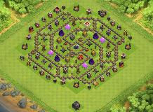 Nibir TH 9 Clash of Clans Base Layout