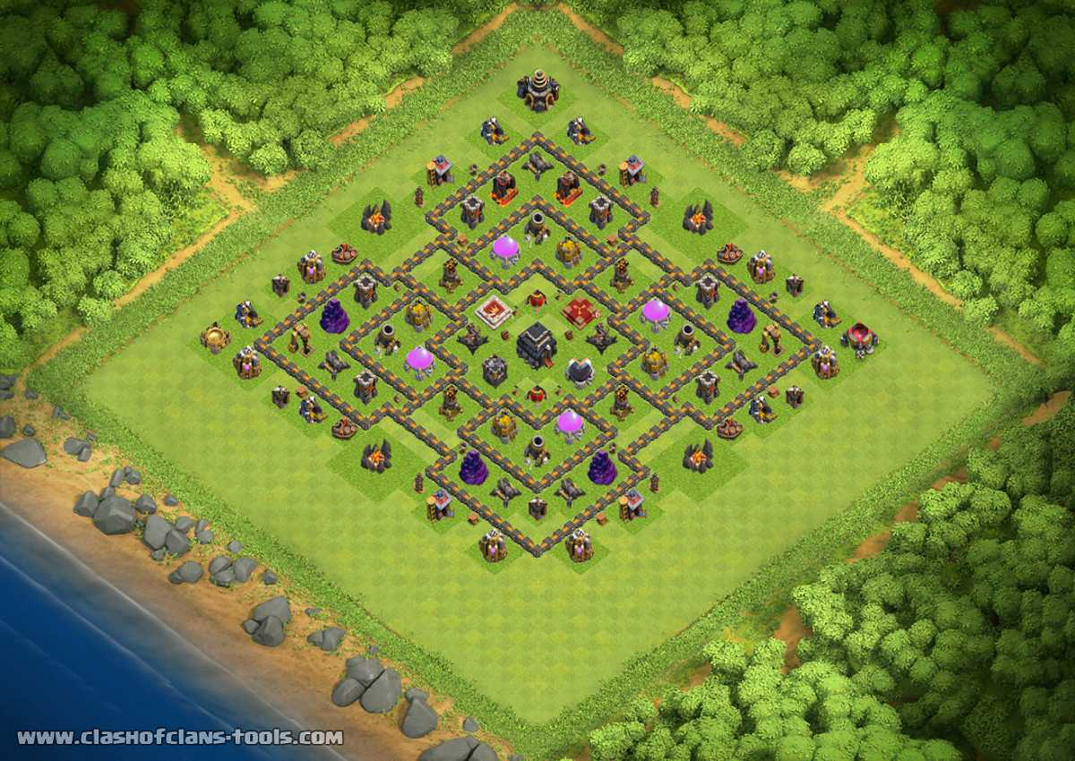 Base Coc Th 9 Anti Maling 7