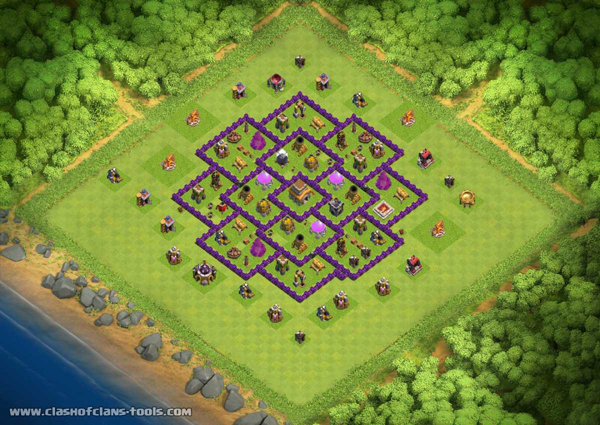 unstoppable th  clash of clans base layout. th hybrid base layouts  top   clash of clans tools   to