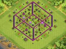 Dark TH 8 Clash of Clans Base Layout