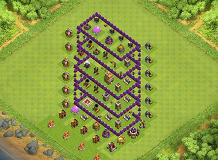Baza TH7 TH 7 Clash of Clans Base Layout