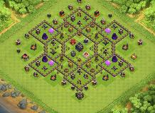 ok TH 9 Clash of Clans Base Layout