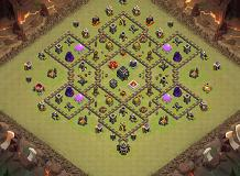 WarBase TH 9 Clash of Clans Base Layout