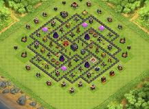 Impossible TH 9 Clash of Clans Base Layout