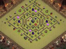 no2 TH 9 Clash of Clans Base Layout