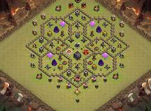 PUNKS TH 9 Clash of Clans Base Layout