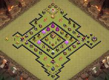 fal- TH 8 Clash of Clans Base Layout