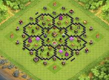 BEST TH 8 Trophy base TH 8 Clash of Clans Base Layout