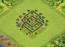 Gh TH 5 Clash of Clans Base Layout