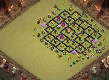 later lay-out TH 8 Clash of Clans Base Layout