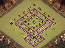 war01 TH 8 Clash of Clans Base Layout
