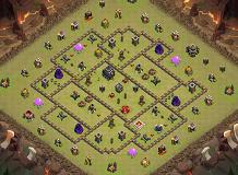 TH9 War Grizz TH 9 Clash of Clans Base Layout