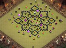 Layout TH8 TH 8 Clash of Clans Base Layout