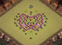 Shield TH 6 Clash of Clans Base Layout