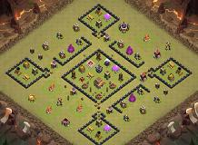 likeAboss TH 8 Clash of Clans Base Layout