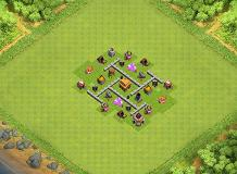 Th3 SpiralLayout TH 3 Clash of Clans Base Layout