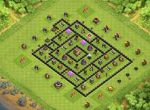 Defende #2 TH 8 Clash of Clans Base Layout