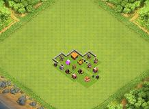protect the DE TH 2 Clash of Clans Base Layout