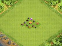 TH1 Hybrid Base TH 1 Clash of Clans Base Layout