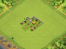 town hall! TH 2 Clash of Clans Base Layout