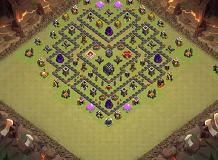 King# TH 9 Clash of Clans Base Layout