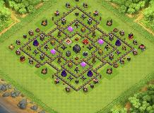 Boo TH 9 Clash of Clans Base Layout