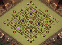 Risk by heart TH 10 Clash of Clans Base Layout