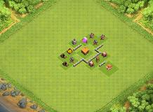 Trophypush TH 2 Clash of Clans Base Layout