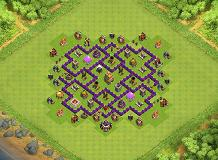4 Leaf Clover TH 7 Clash of Clans Base Layout