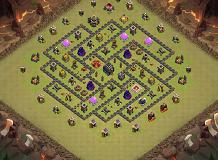 Th9 base layouts top 1000 clash of clans tools leo th 9 clash of clans base layout sciox Choice Image