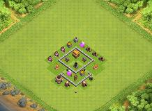 Deffence base th 3 TH 3 Clash of Clans Base Layout