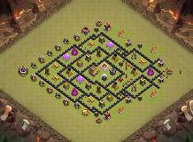 Hh TH 8 Clash of Clans Base Layout