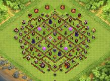 Farming 1 TH 10 Clash of Clans Base Layout