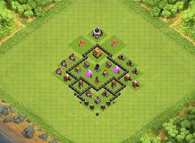 Baglanggs trophy base TH 4 Clash of Clans Base Layout