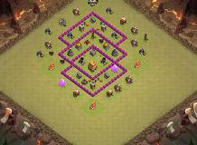Luna TH 6 Clash of Clans Base Layout