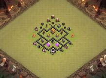 Trophy TH 4 Clash of Clans Base Layout
