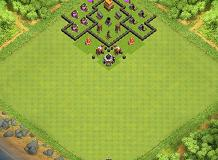 Defensive TH 4 Clash of Clans Base Layout