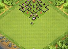 lol TH 4 Clash of Clans Base Layout