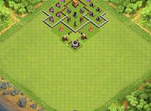 Current TH 4 Clash of Clans Base Layout