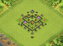 Ghh TH 4 Clash of Clans Base Layout