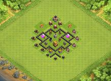 my base TH 4 Clash of Clans Base Layout