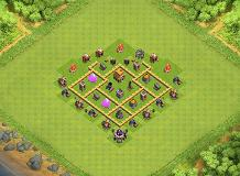 TH5 Hybrid Base TH 5 Clash of Clans Base Layout